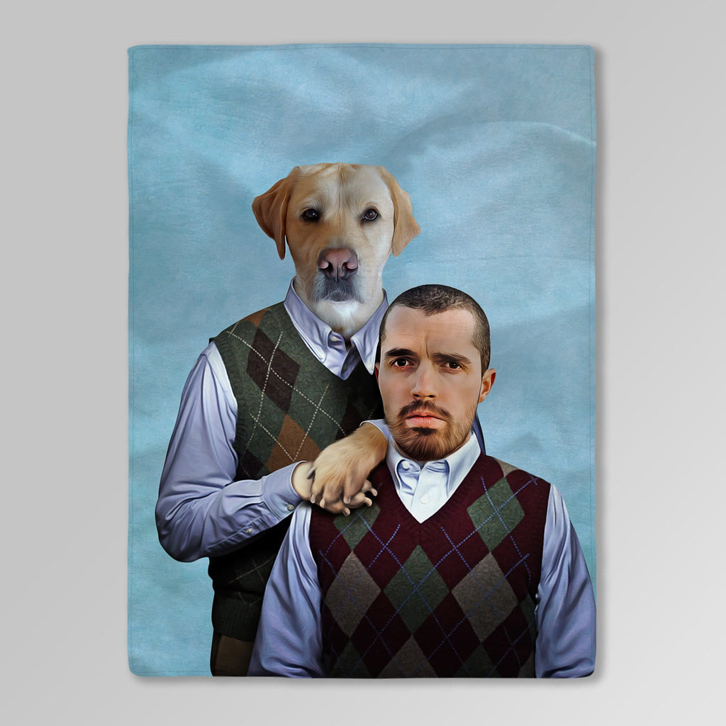 'Step Doggo & Human' Personalized Blanket