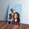 'Step Doggo & Human (Female)' Personalized Canvas
