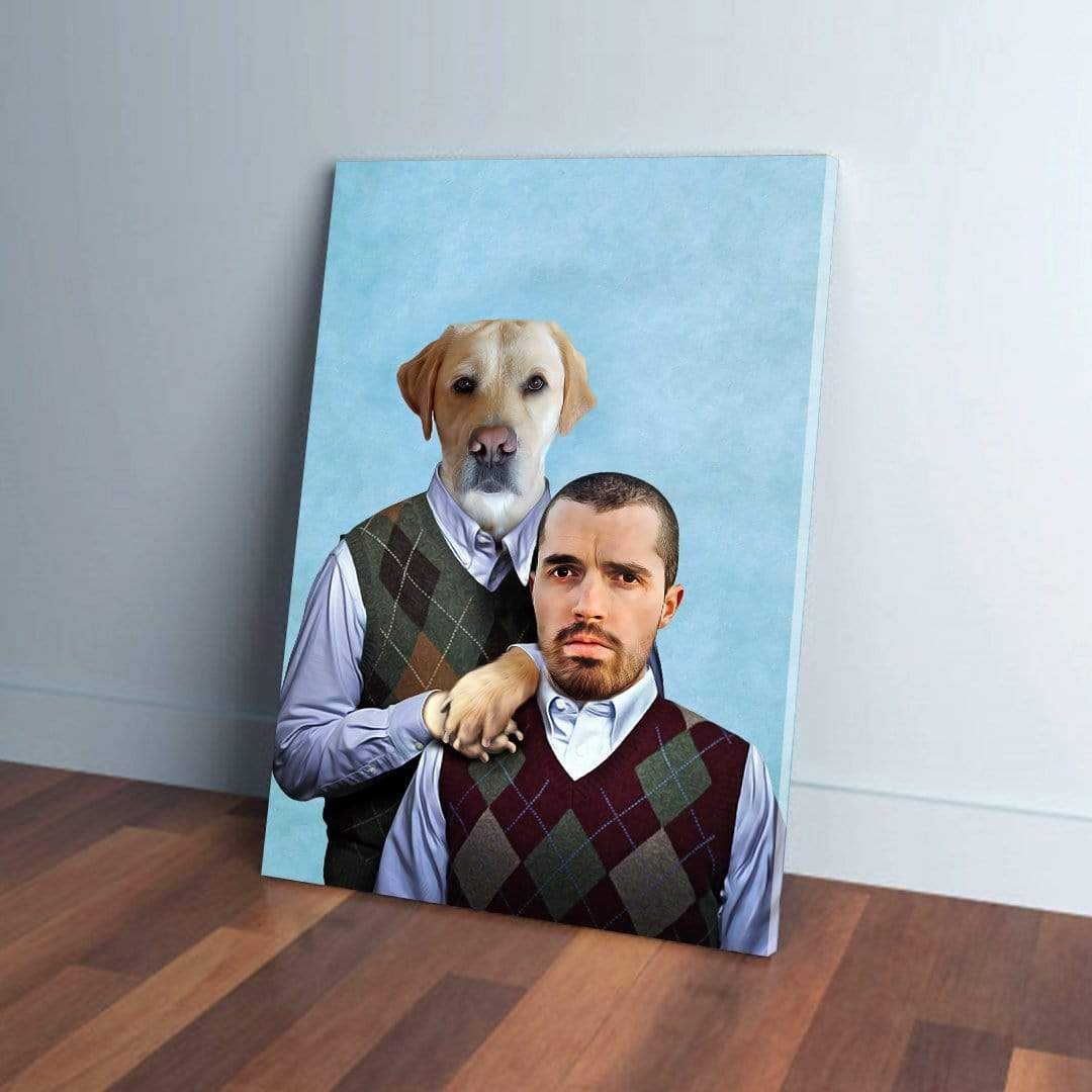 'Step Doggo & Human' Personalized Canvas