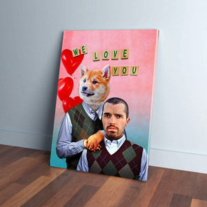 Step Doggo/Human Valentines Personalized Canvas