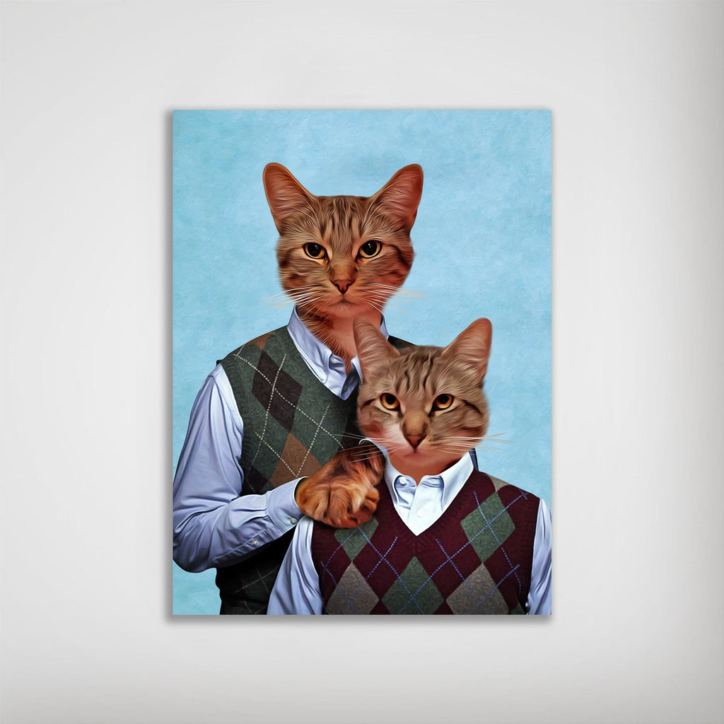 Step Kitties Personalized 2 Cat Poster