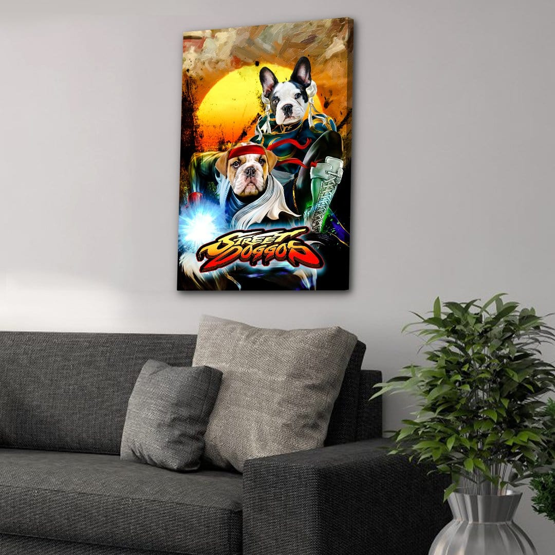 'Street Doggos 2' Personalized 2 Pet Canvas