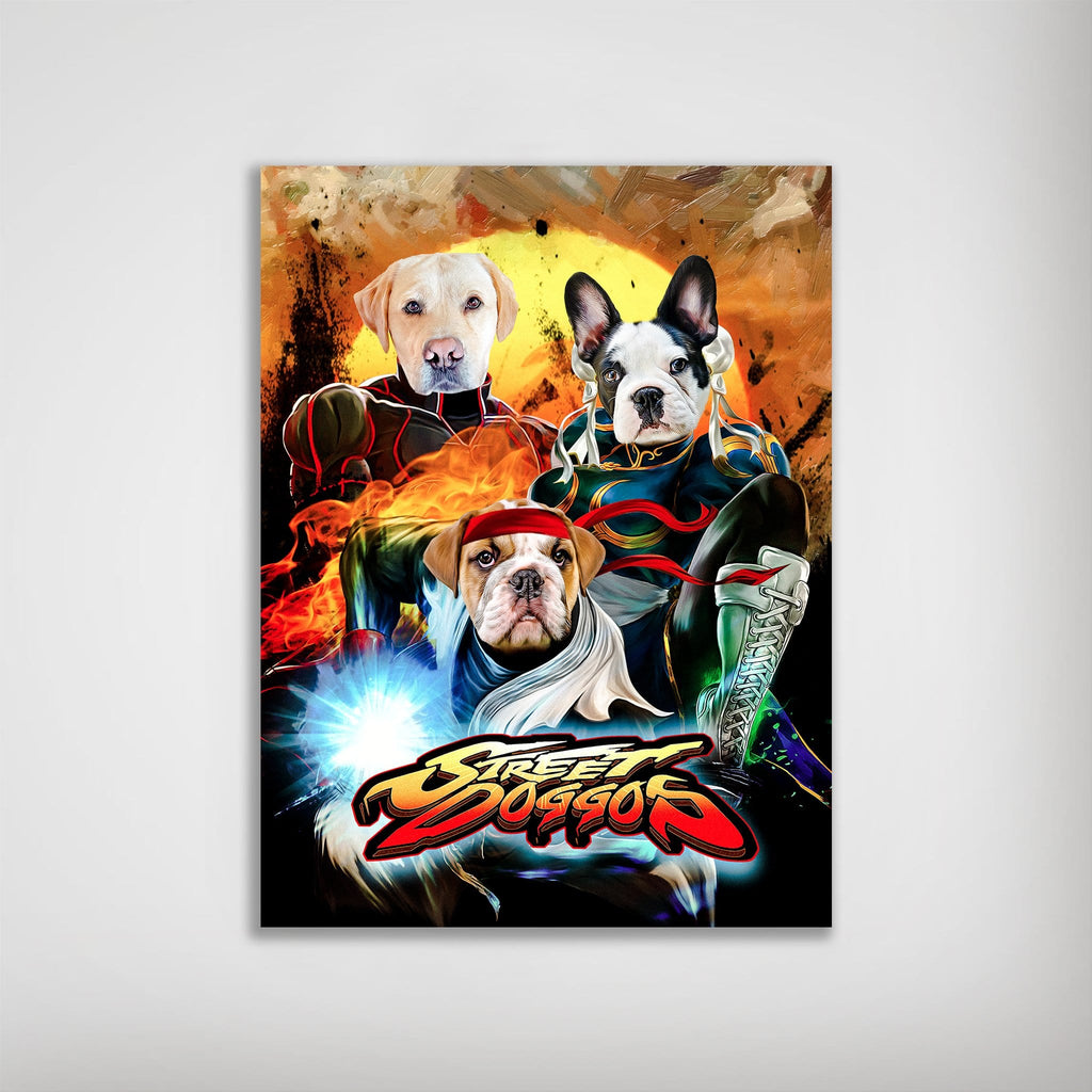 'Street Doggos' Personalized 3 Pet Poster