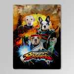 'Street Doggos' Personalized 3 Pet Blanket