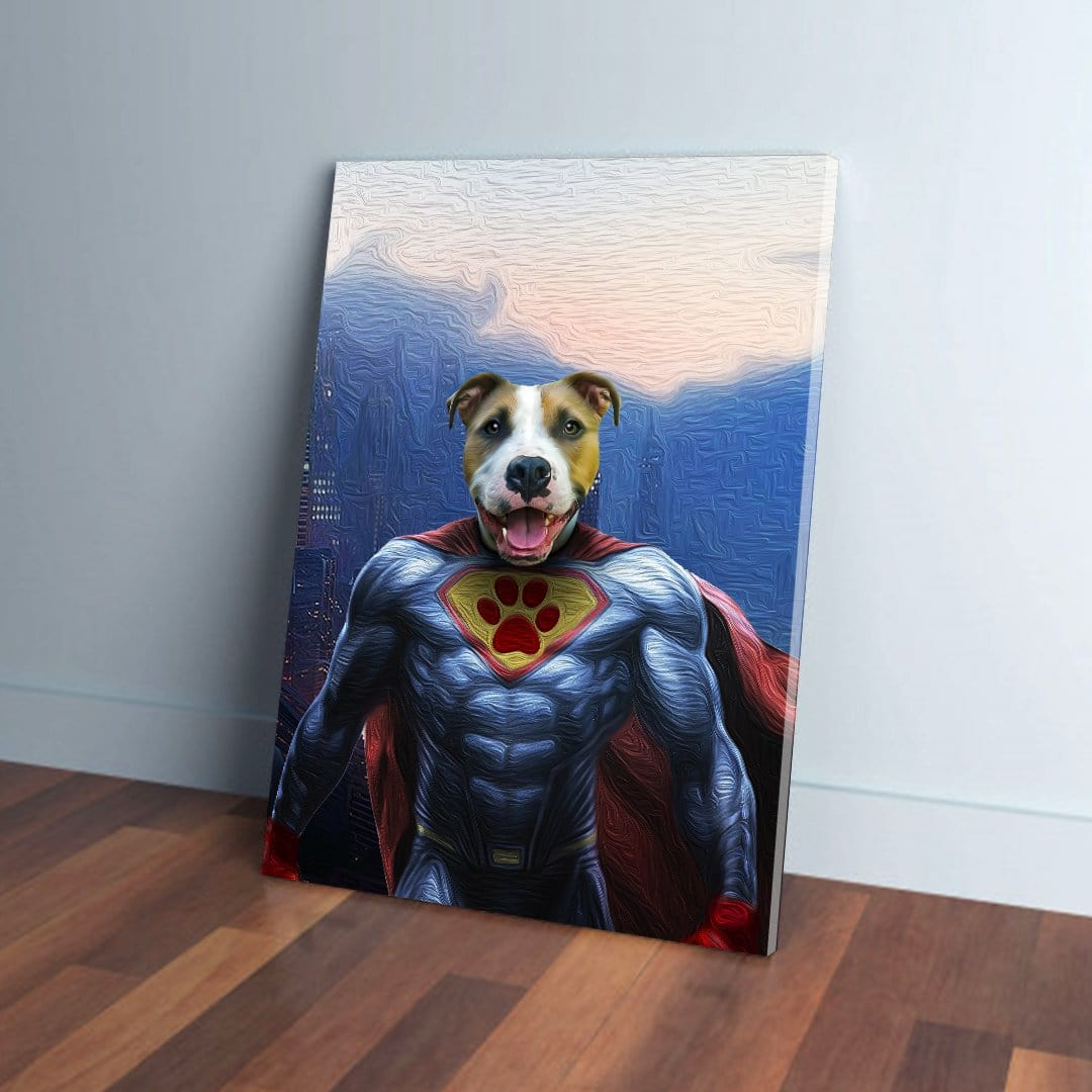 'Super Dog' Personalized Pet Canvas