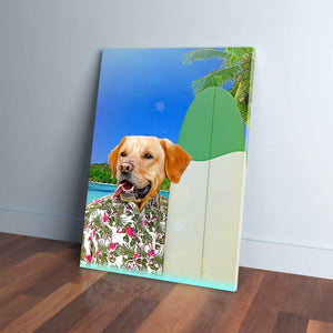 'The Surfer' Personalized Pet Canvas