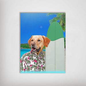 'The Surfer' Personalized Pet Poster