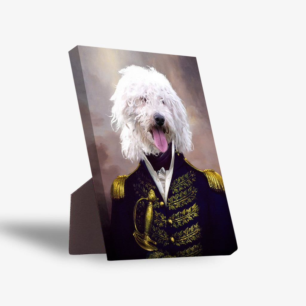 'The Admiral' Personalized Pet Standing Canvas