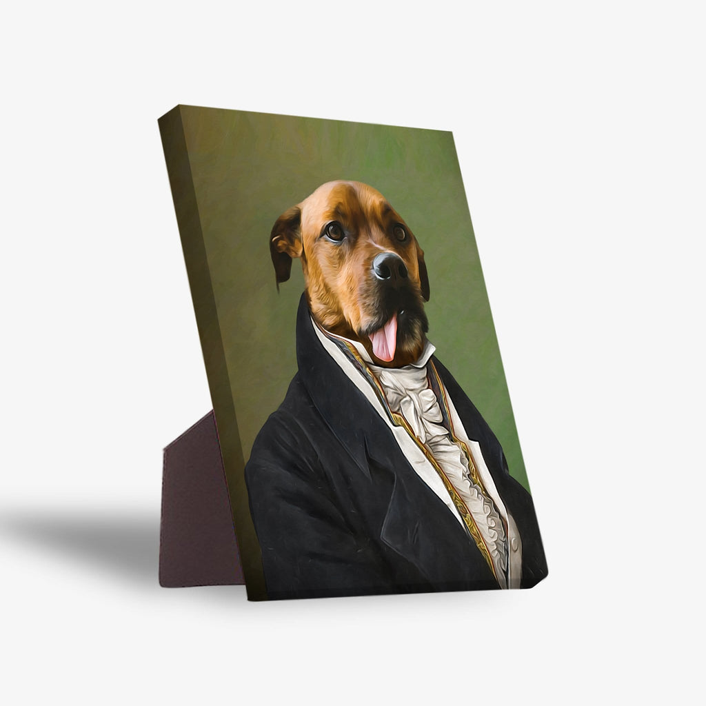 'The Ambassador' Personalized Pet Standing Canvas