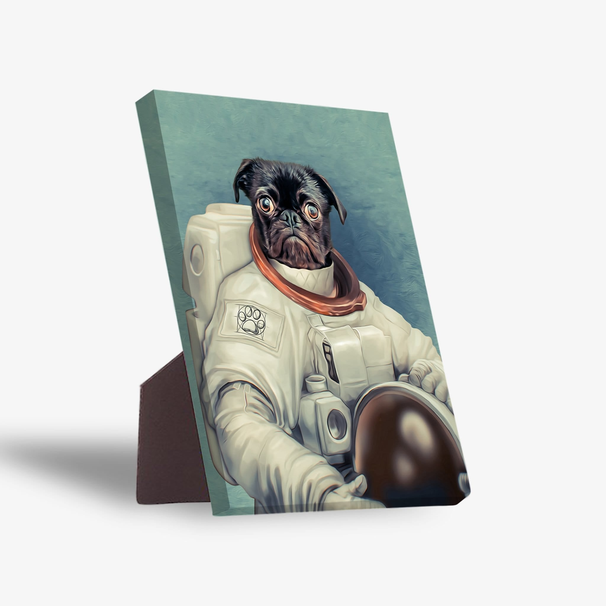 'The Astronaut' Personalized Pet Standing Canvas