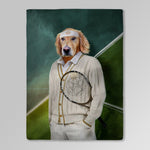 'The Tennis Player' Personalized Pet Blanket