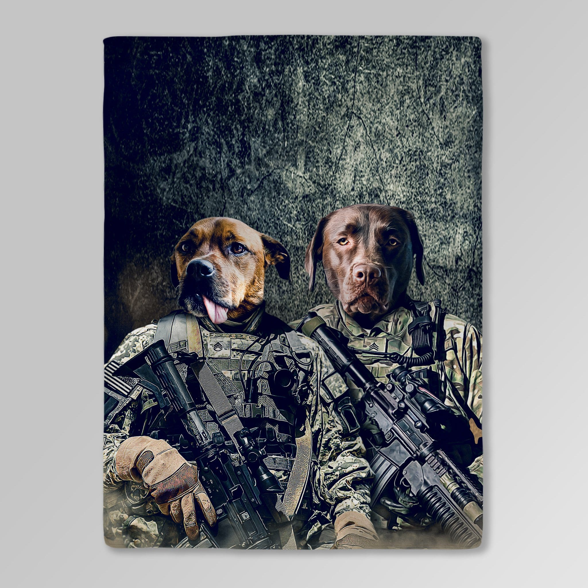 'The Army Veterans' Personalized 2 Pet Blankets