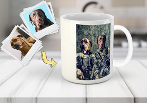 'The Army Veterans' Personalized 2 Pet Mug