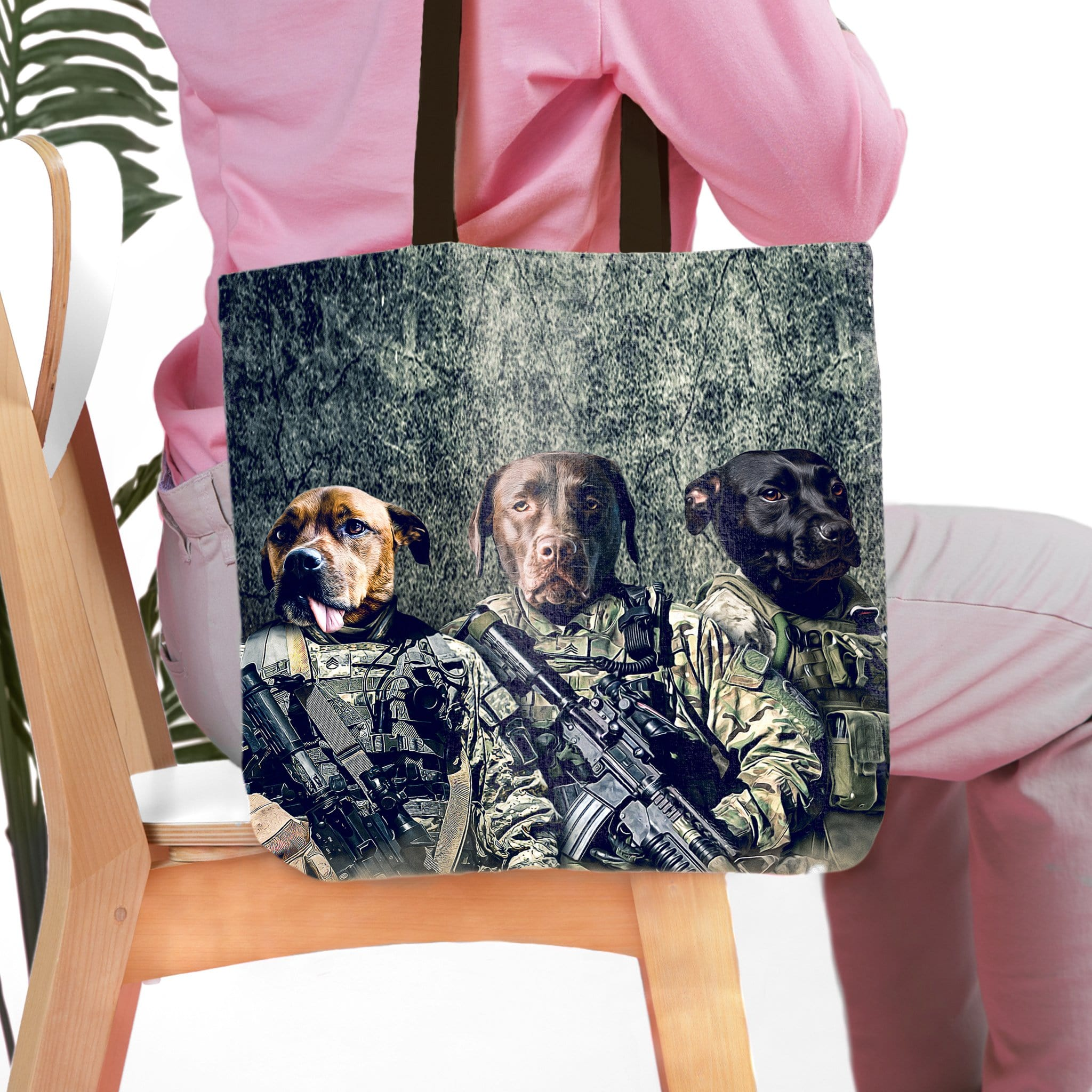 'The Army Veterans' Personalized 3 Pet Tote Bag