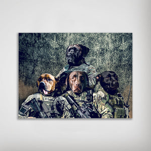 'The Army Veterans' Personalized 4 Pet Poster