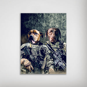 'The Army Veterans' Personalized 2 Pet Poster