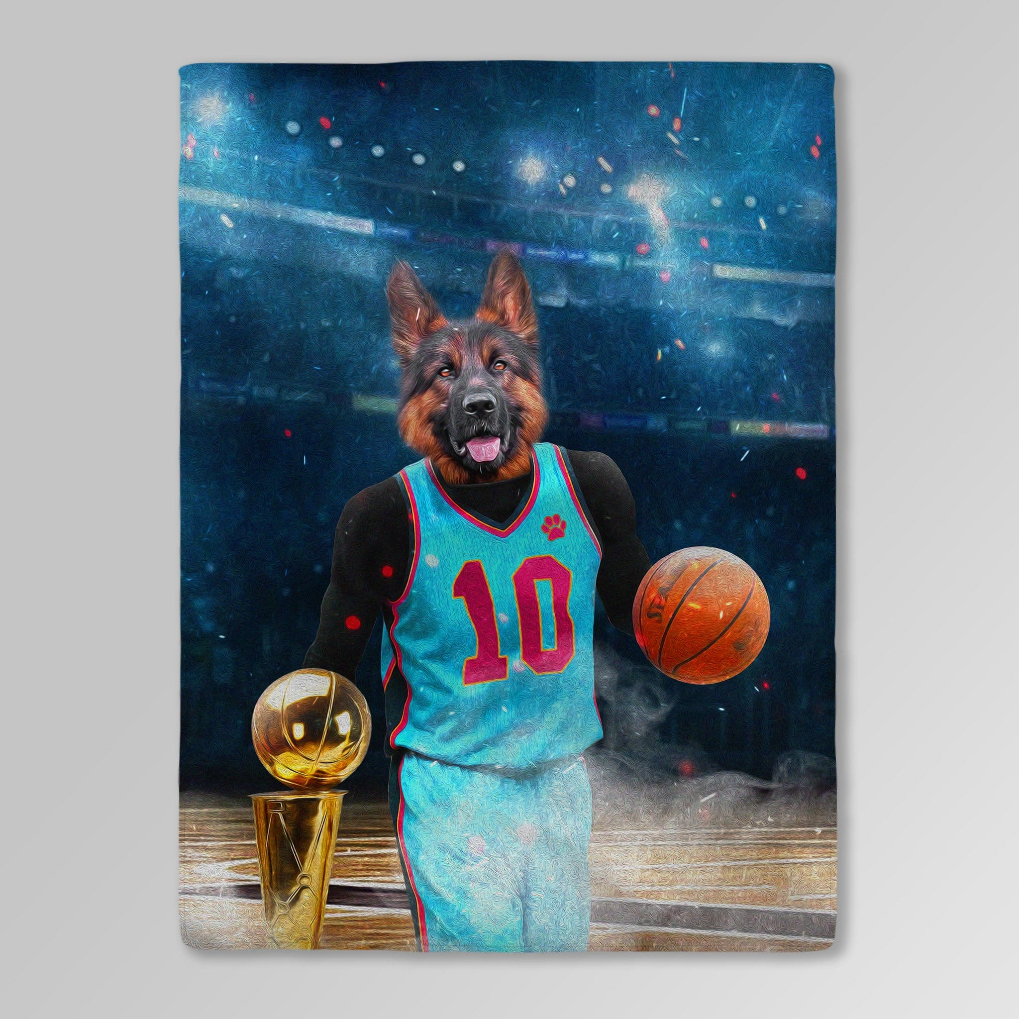 'The Basketball Player' Personalized Pet Blanket