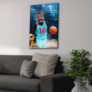 'The Basketball Player' Personalized Pet Canvas