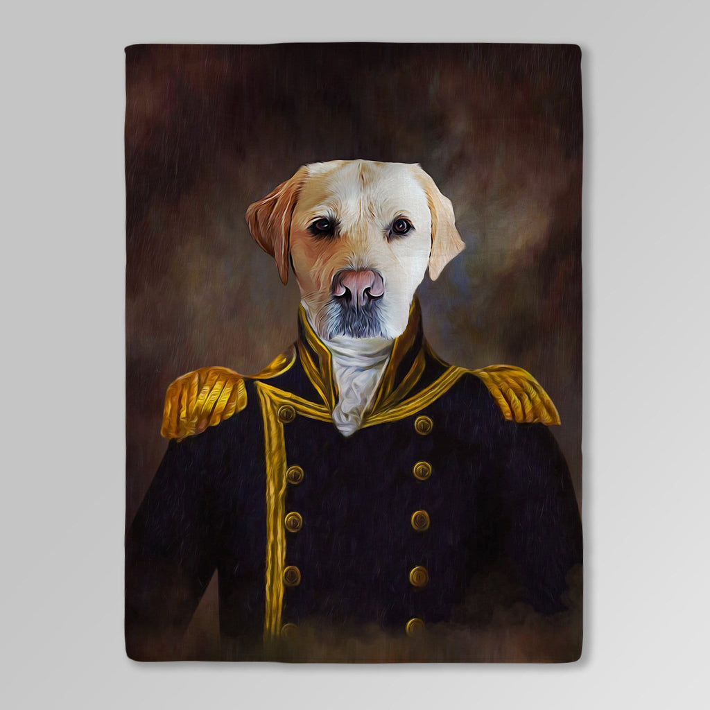 'The Captain' Personalized Pet Blanket