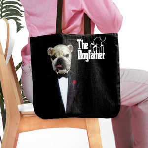 'The Dogfather' Personalized Tote Bag
