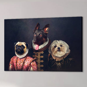 'The Duke Family' Personalized 3 Pet Canvas
