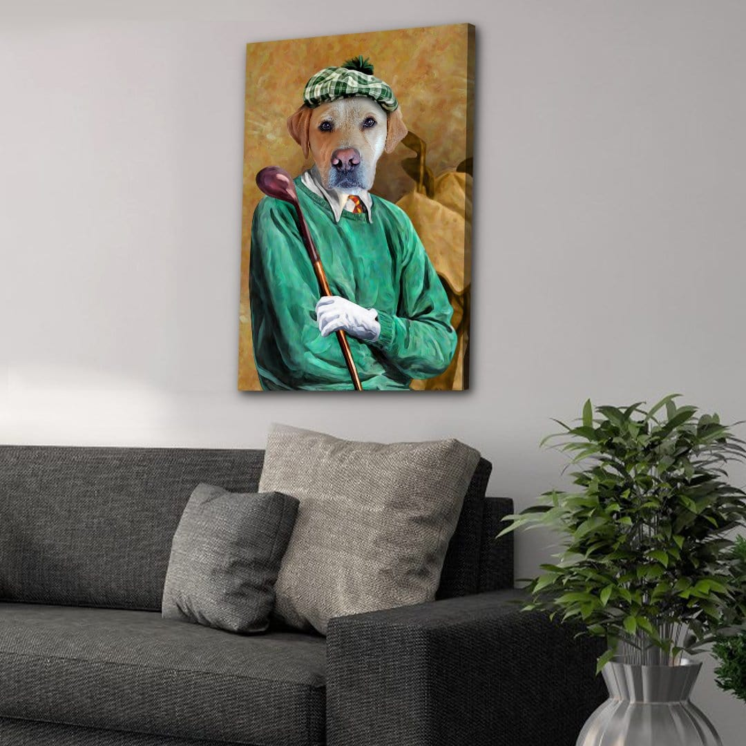 'The Golfer' Personalized Pet Canvas