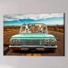 'The Lowrider' Personalized 2 Pet Canvas