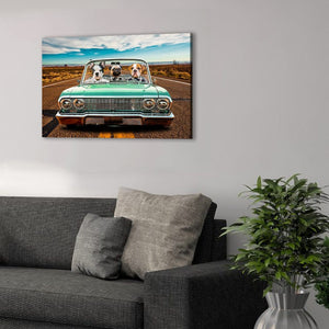 'The Lowrider' Personalized 3 Pet Canvas