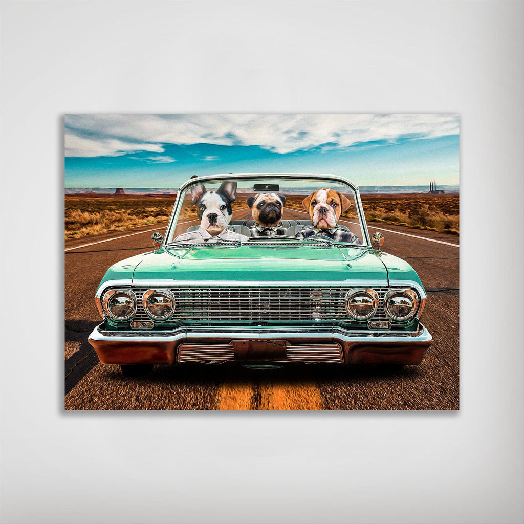 'The Lowrider' Personalized 3 Pet Poster