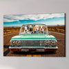 'The Lowrider' Personalized 4 Pet Canvas