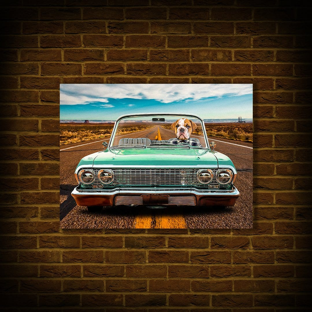 'The Lowrider' Personalized Pet Poster