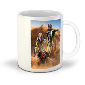 'The Motocross Riders' Personalized 2 Pet Mug