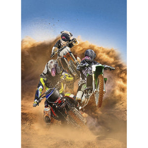 'The Motocross Rider' 3 Pet Digital Portrait