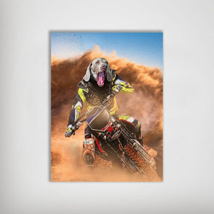 'The Motocross Rider' Personalized Pet Poster
