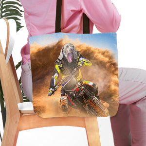 'The Motocross Rider' Personalized Tote Bag