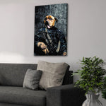 'The Navy Veteran' Personalized Pet Canvas