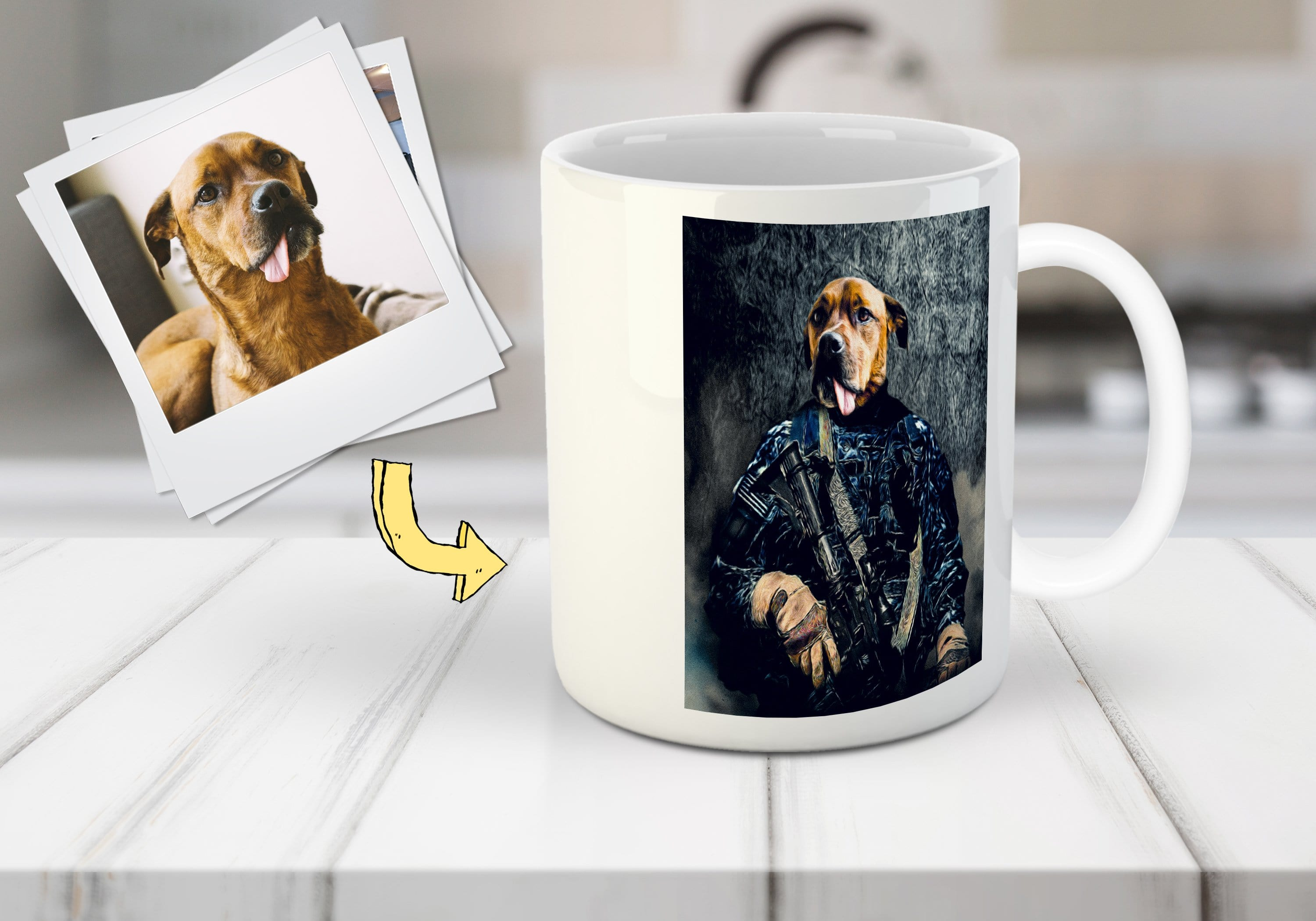 'The Navy Veteran' Personalized Pet Mug