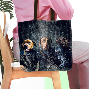'The Navy Veterans' Personalized 3 Pet Tote Bag