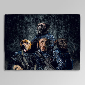 'The Navy Veterans' Personalized 4 Pet Blanket