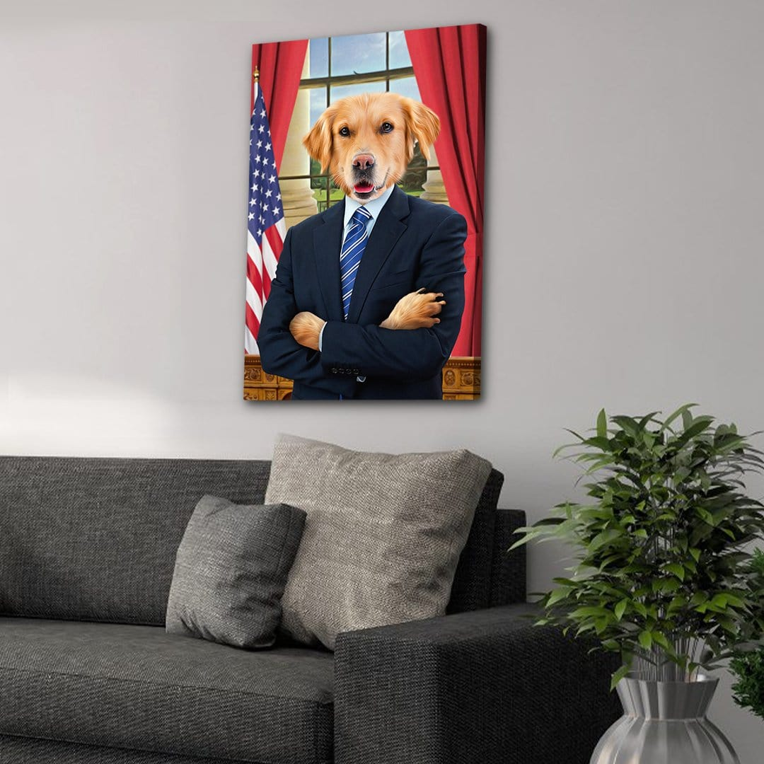 'The President' Personalized Pet Canvas