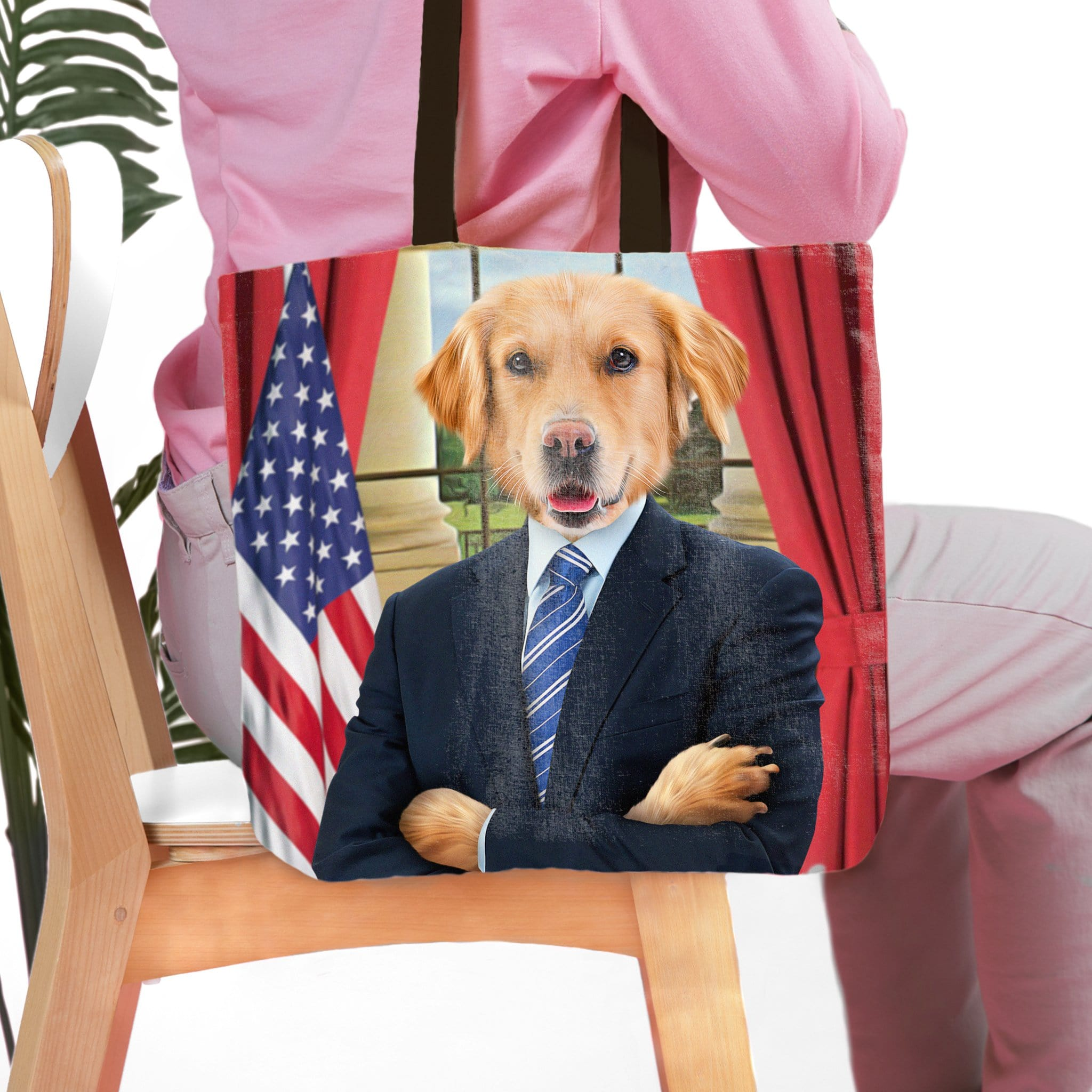 'The President' Personalized Tote Bag