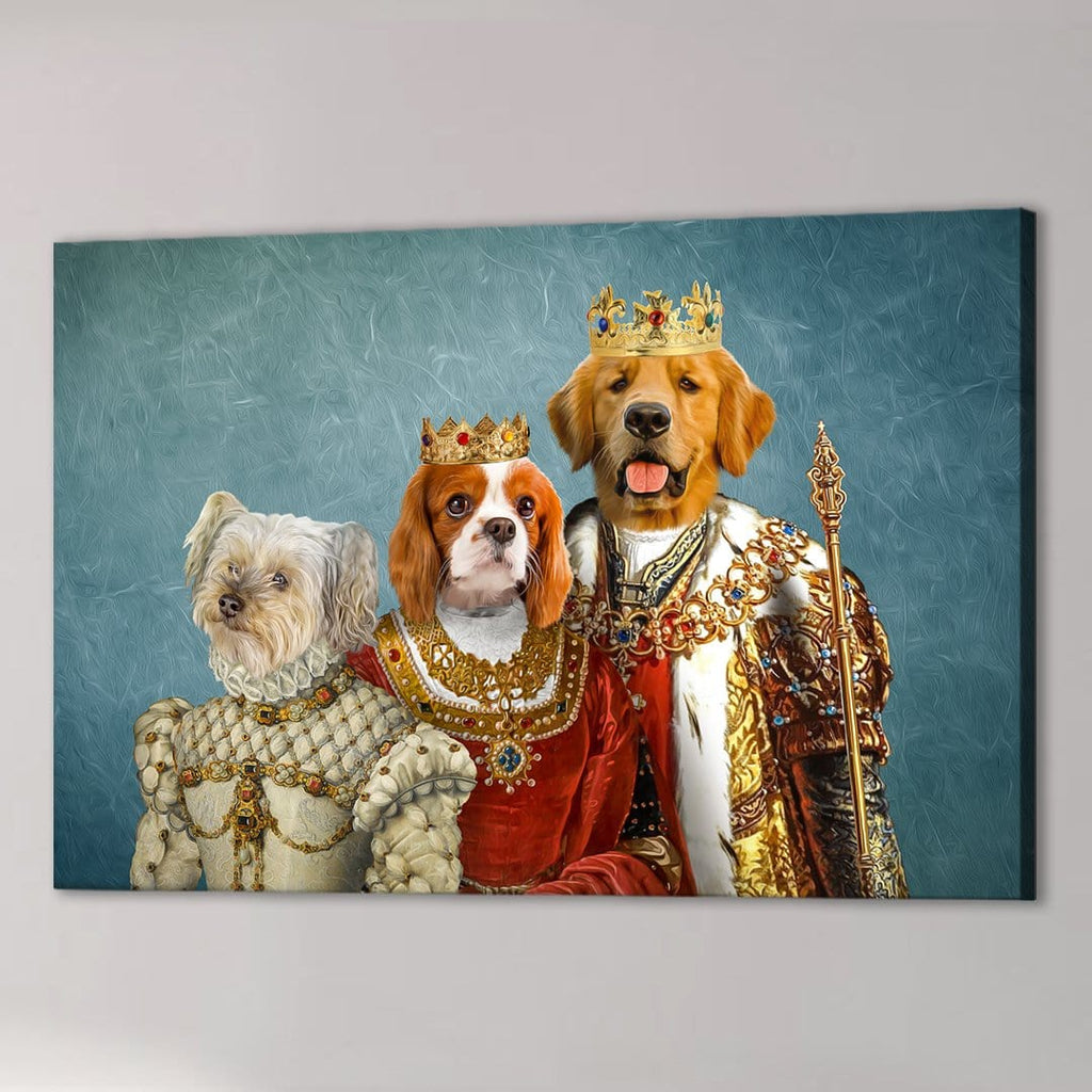 'The Royal Family' Personalized 3 Pet Canvas