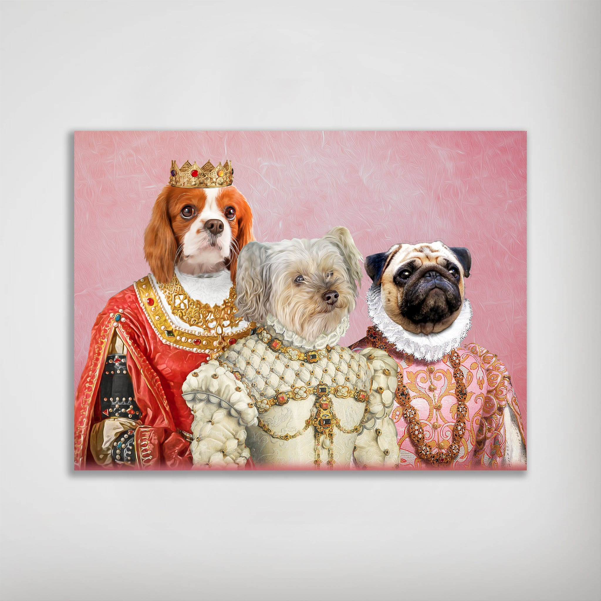 'The Royal Ladies' Personalized 3 Pet Poster