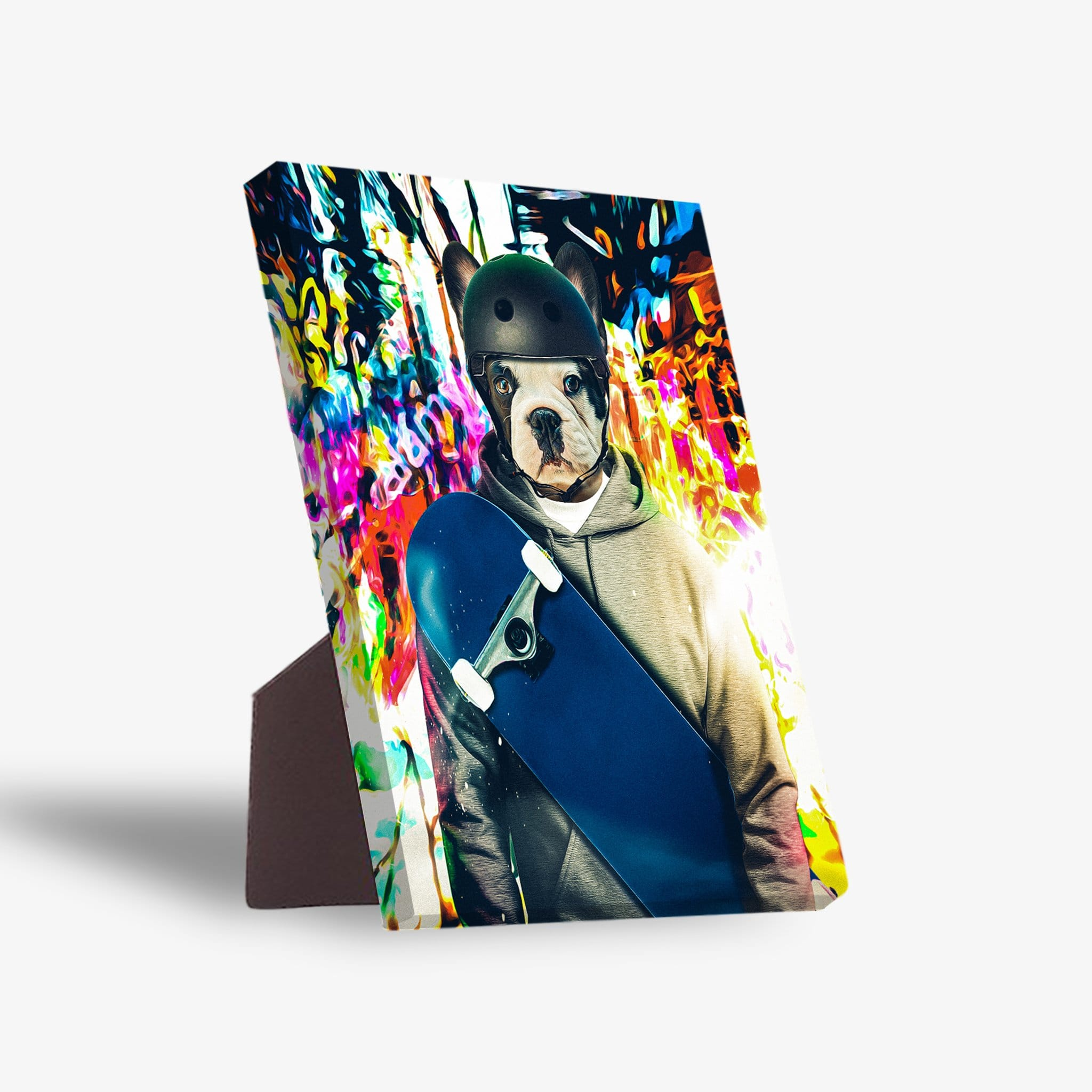'The Skateboarder' Personalized Pet Standing Canvas