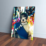 'The Skateboarder' Personalized Pet Canvas