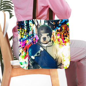 'The Skateboarder' Personalized Tote Bag