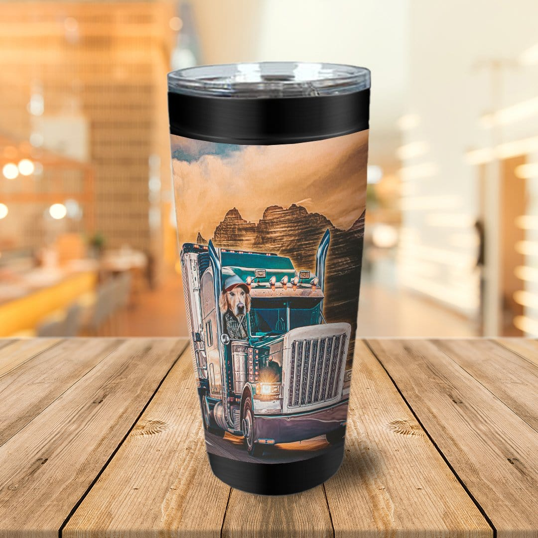 'The Trucker' Personalized Tumbler