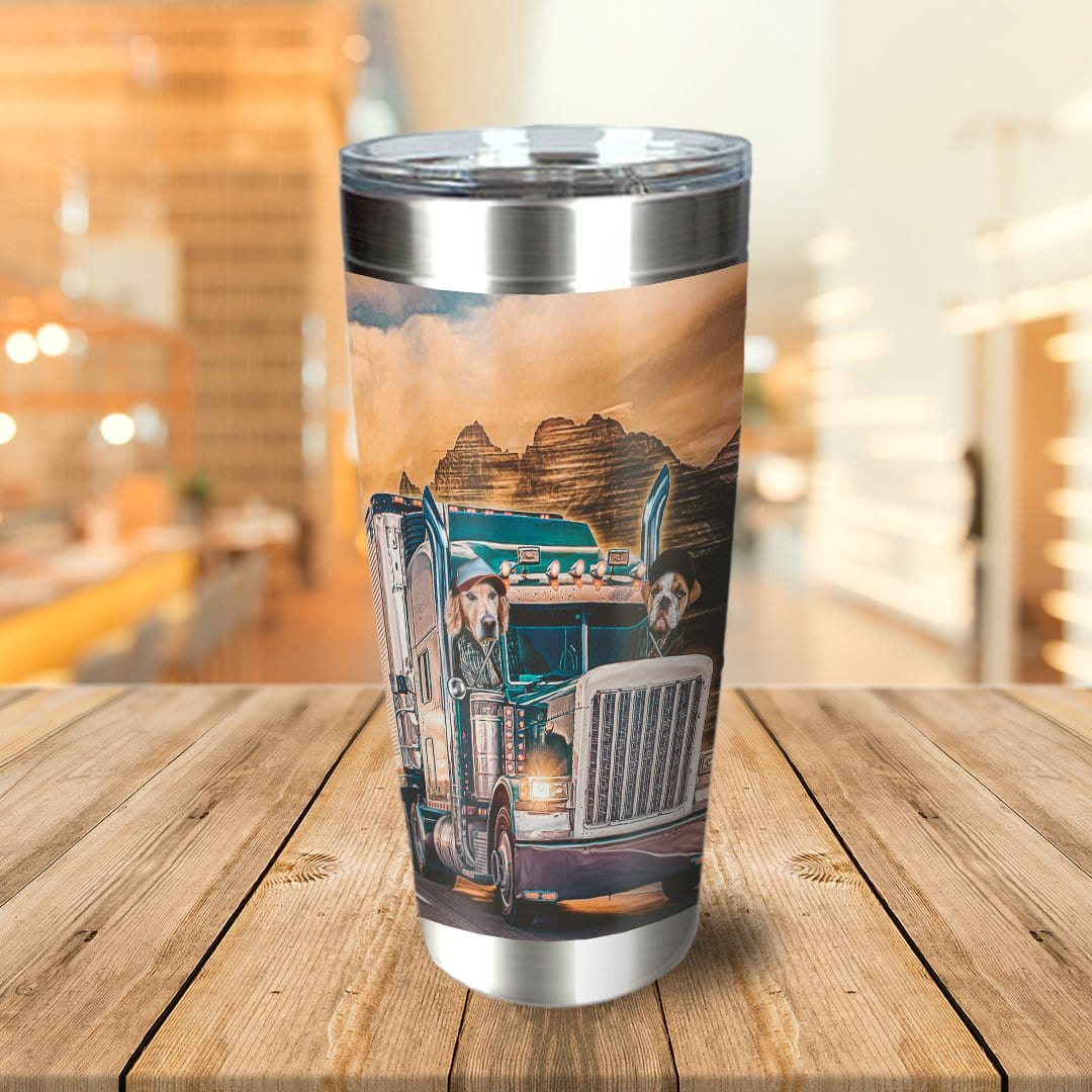 'The Truckers' Personalized 2 Pet Tumbler