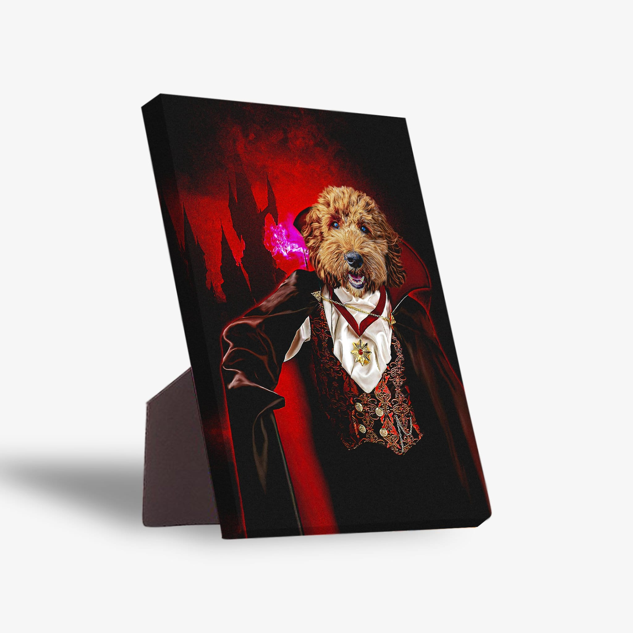 'The Vampire' Personalized Pet Standing Canvas