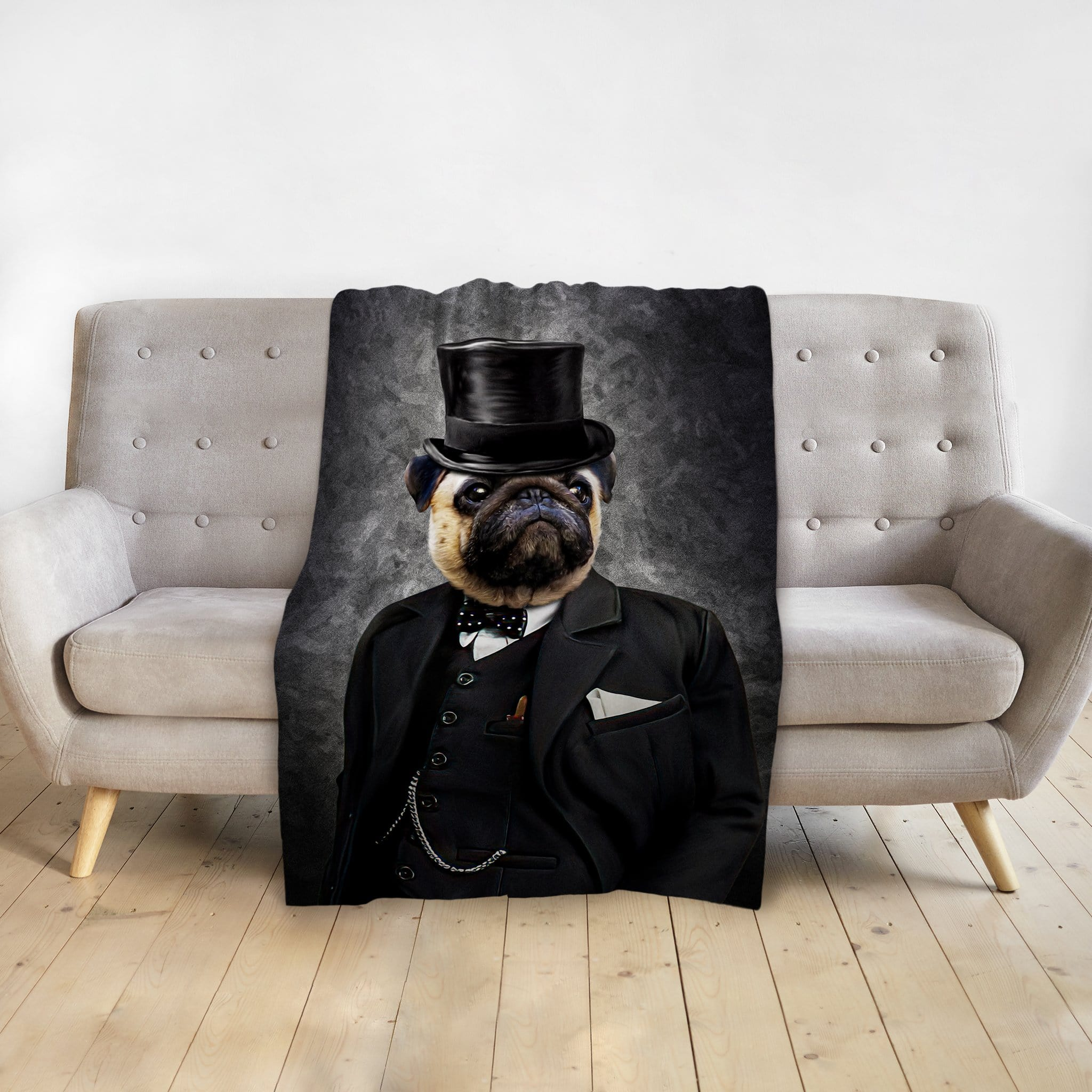 'The Winston' Personalized Pet Blanket